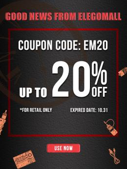 Good News: Retail is Now Available at Elegomall With 20% OFF