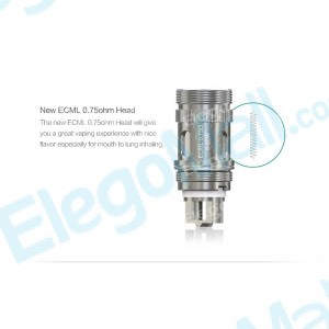 Eleaf ECML 0.75ohm Head for Melo 3 Nano/iJust S/Lemo 3/iJust 2/iJust 2 mini/Melo 3/Melo 2/Melo (5pcs/pack)
