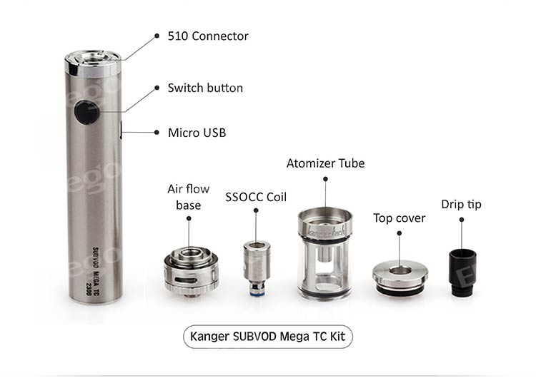 Kanger Subvod Mega Tc Kit