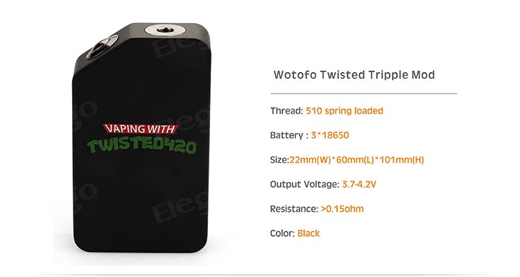 Wotofo Twisted Tripple Mod