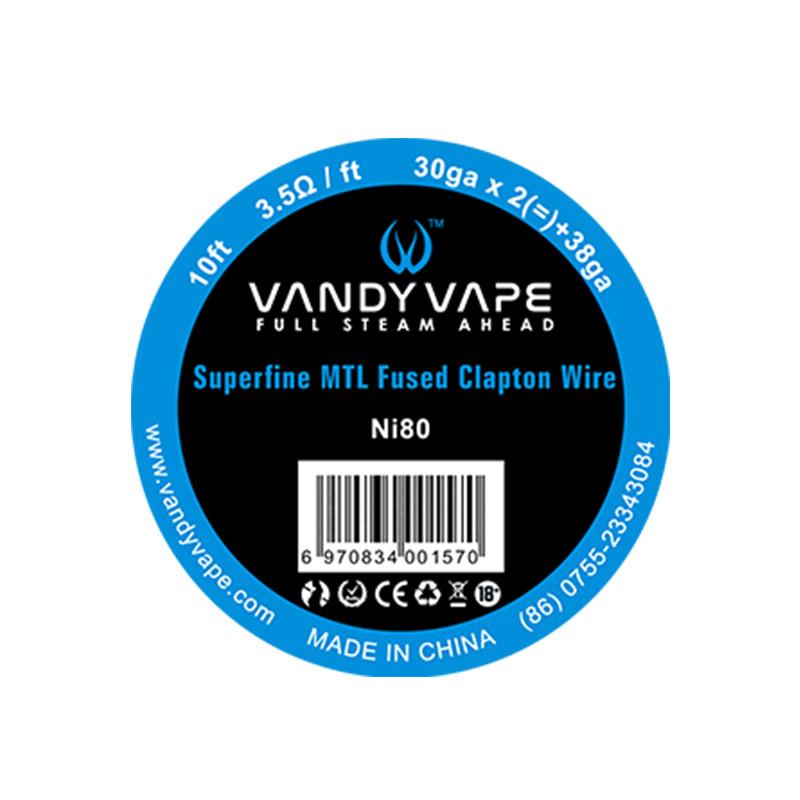 Vandyvape Superfine MTL Fused Clapton Vape Wires 30GA*2+38GA