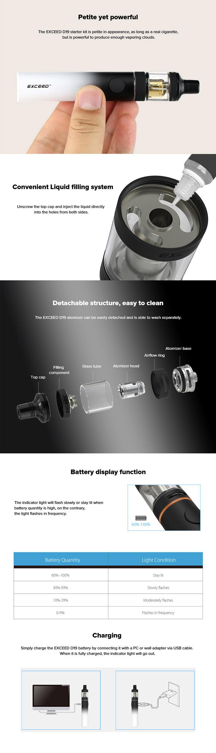Joyetech Exceed D19 Starter Kit - 2.0ml & 1500mah
