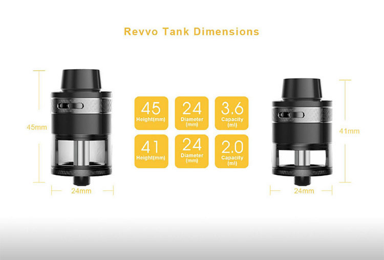 Aspire Revvo Tank Parameter