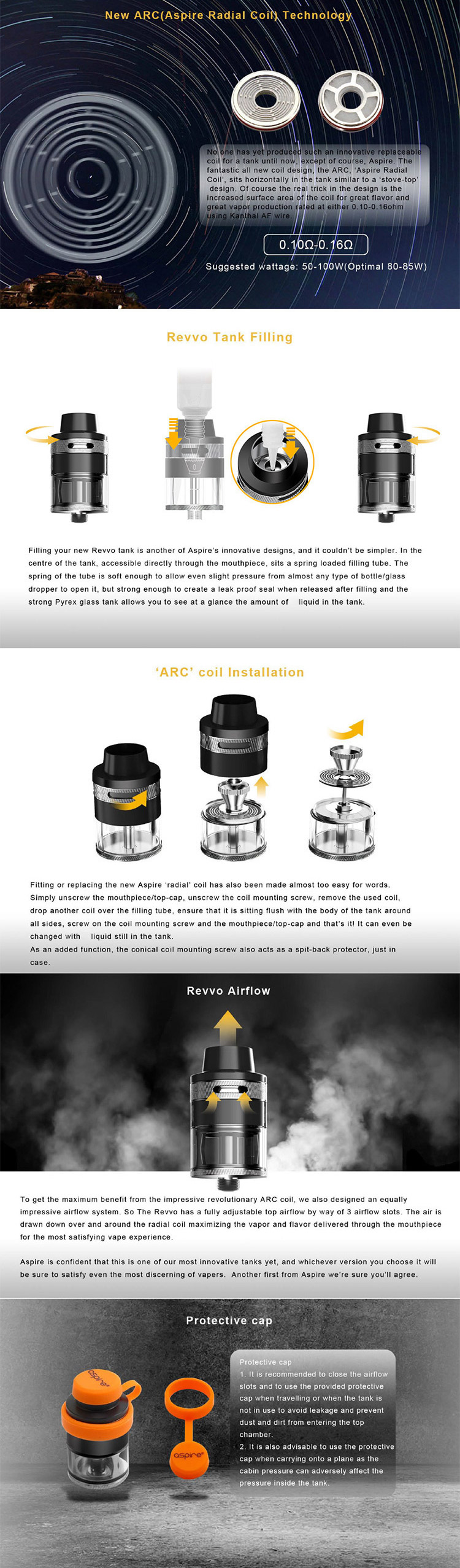 Aspire Revvo Tank Main Feature