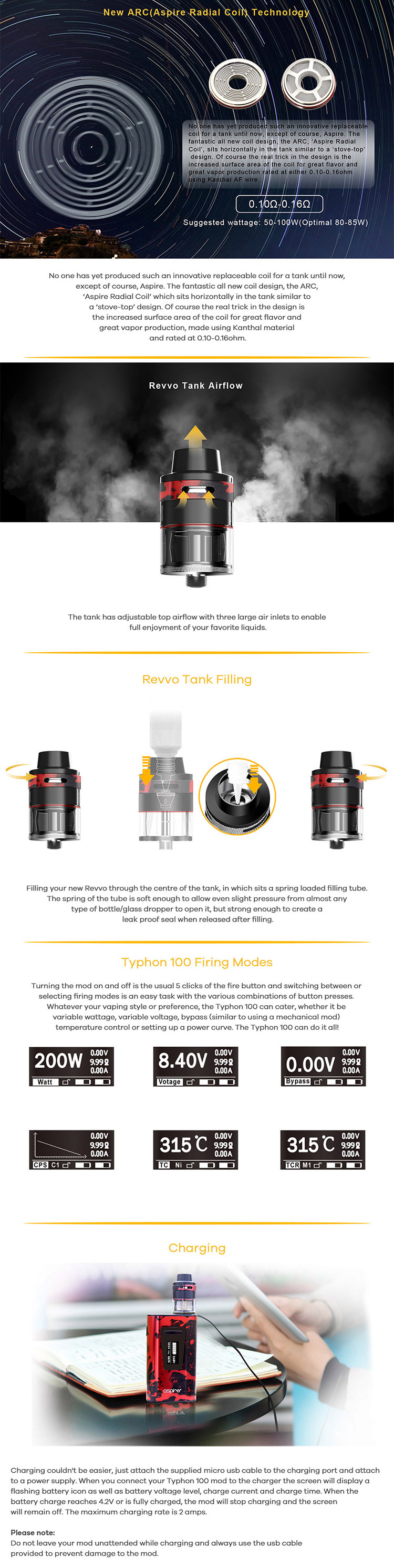 Aspire Typhon Revvo 100W Box Kit Main Feature