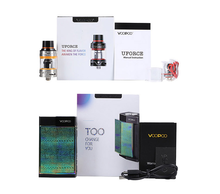 VOOPOO TOO 180W Box Kit Packing List