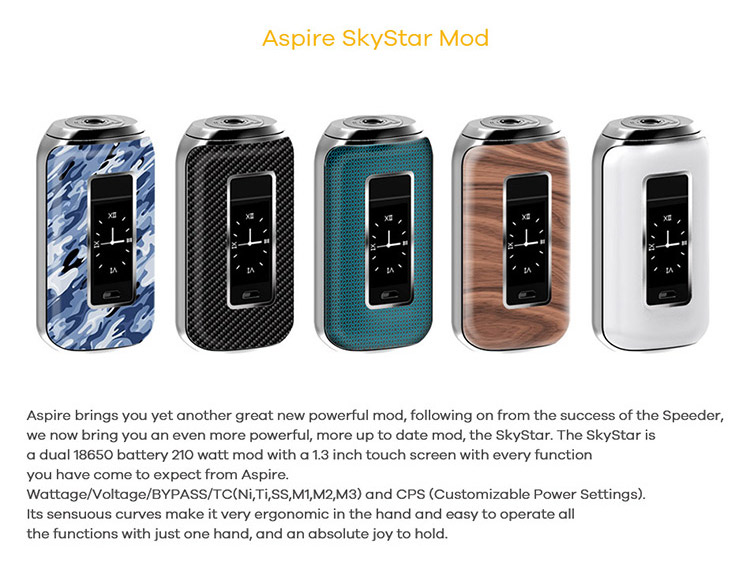 Aspire SkyStar 210W Box Mod Color