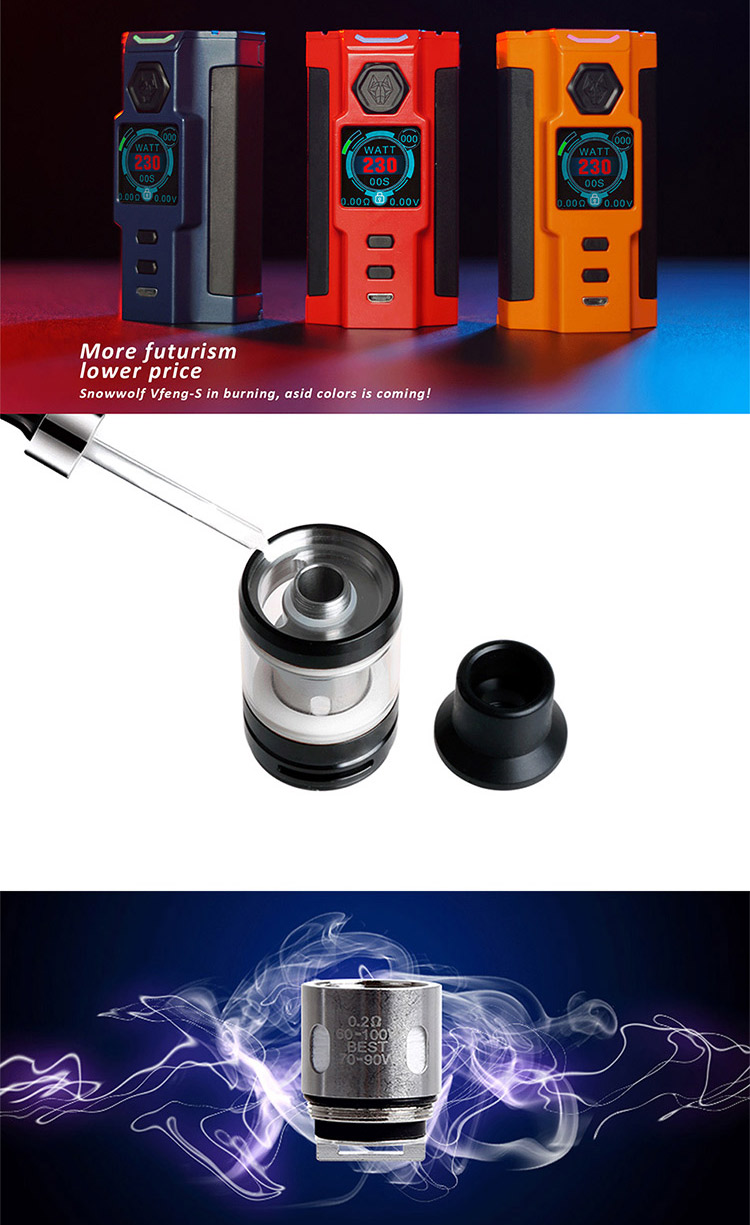 SnowWolf Vfeng-S 230W Kit Feature