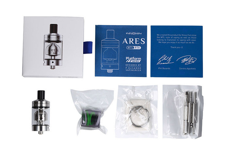 Innokin Ares MTL RTA Tank Packing List