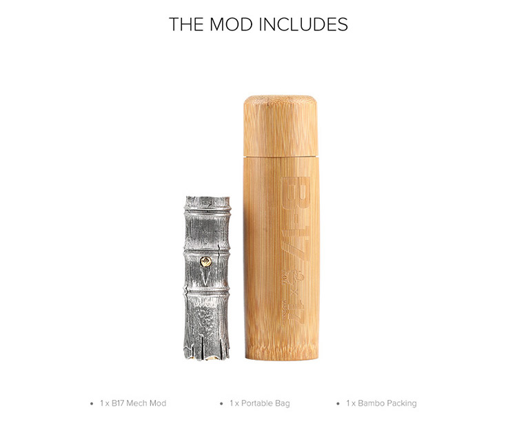 Blitz B17 Mech Mod Packing List