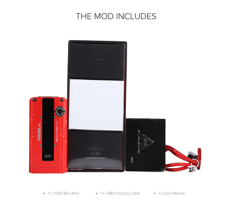 Augvape V200 Box MOD Packing List
