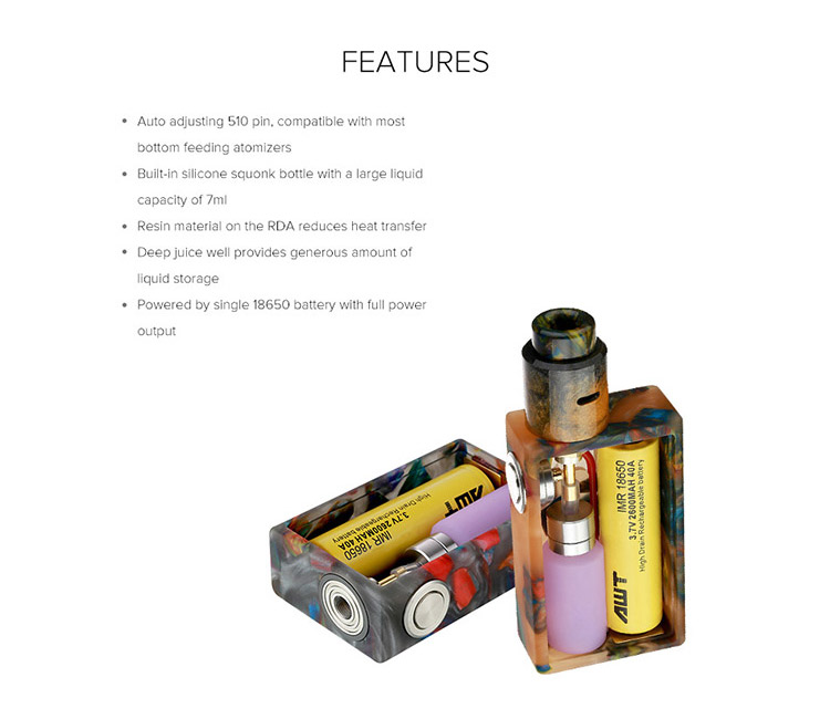 Aleader Funky Squonk Resin Kit Feature