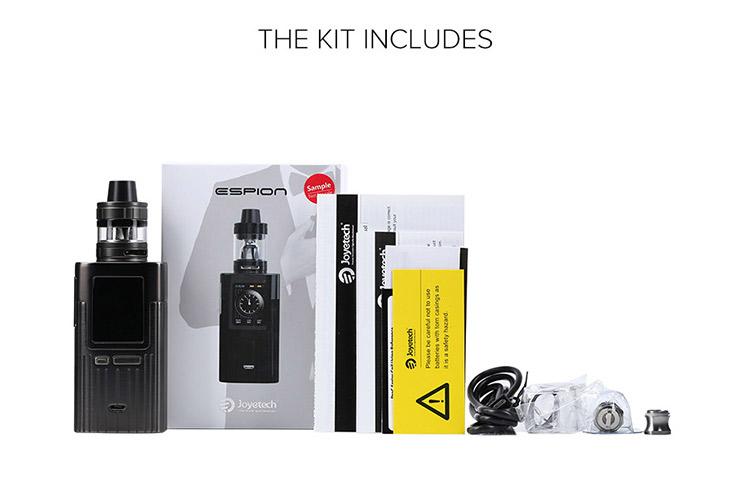 Joyetech Espion 200W TC Kit Packing List