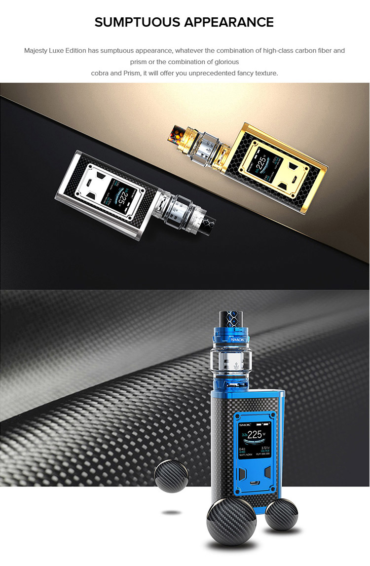 SMOK Majesty 230W TC Kit Feature