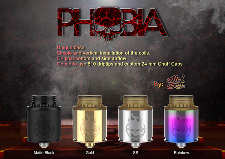 Vandy Vape PHOBIA BF RDA Color