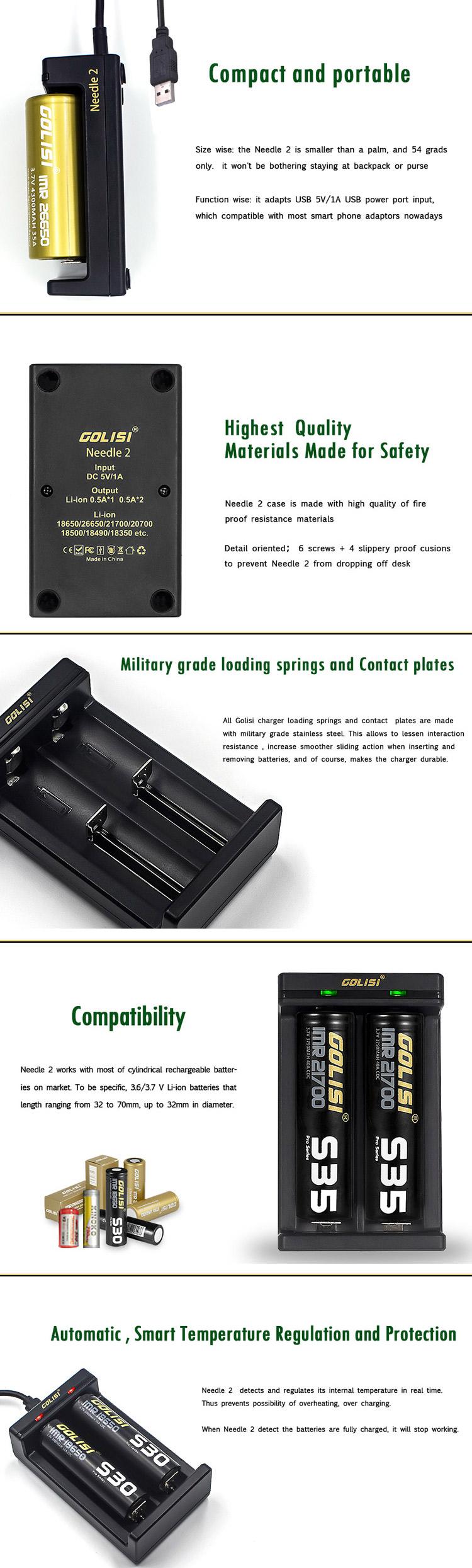 Golisi Needle2 Intelligent USB Charger Feature