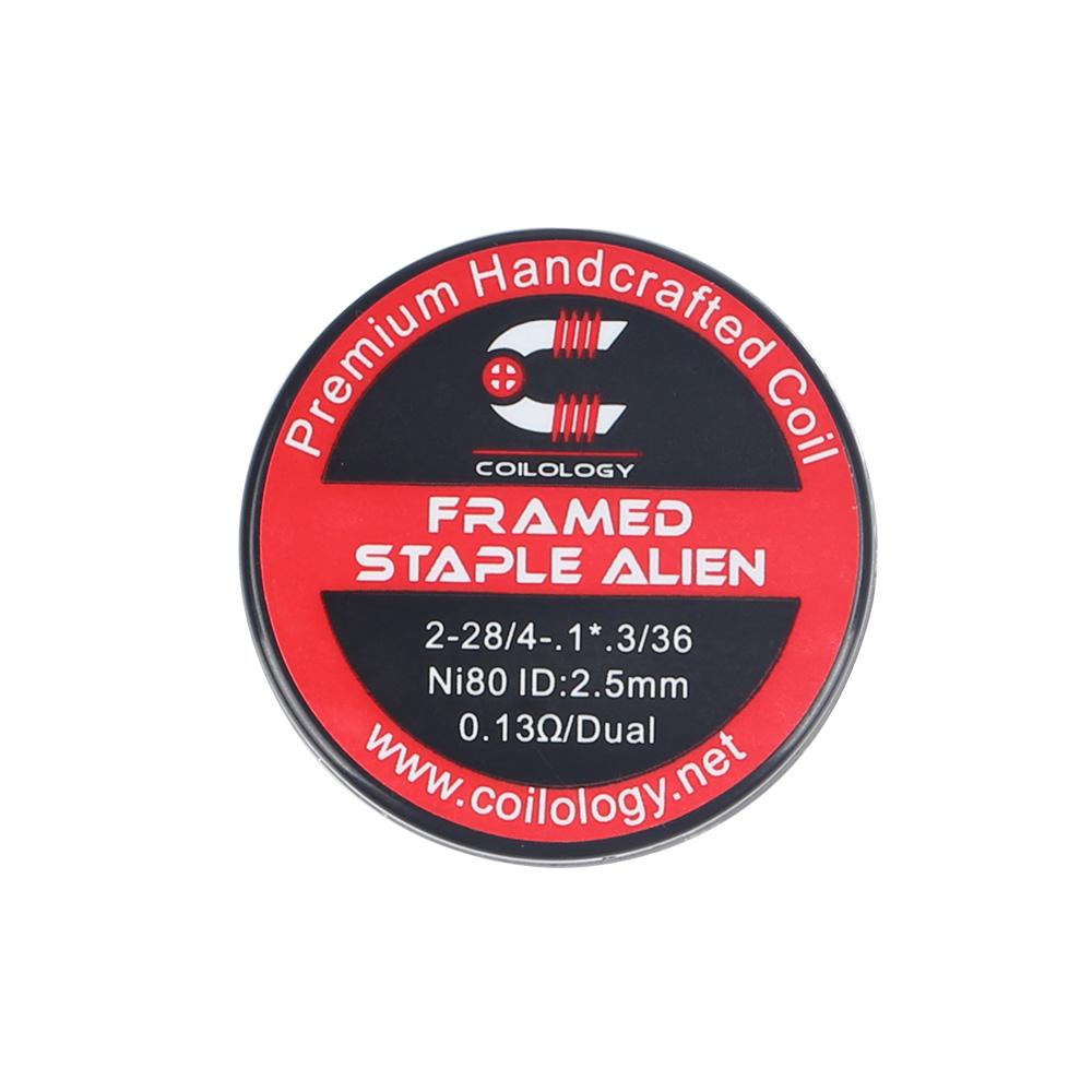 Coilology Framed Staple Alien Handcrafted DIY Prebuild Coils (2pcs/pack)