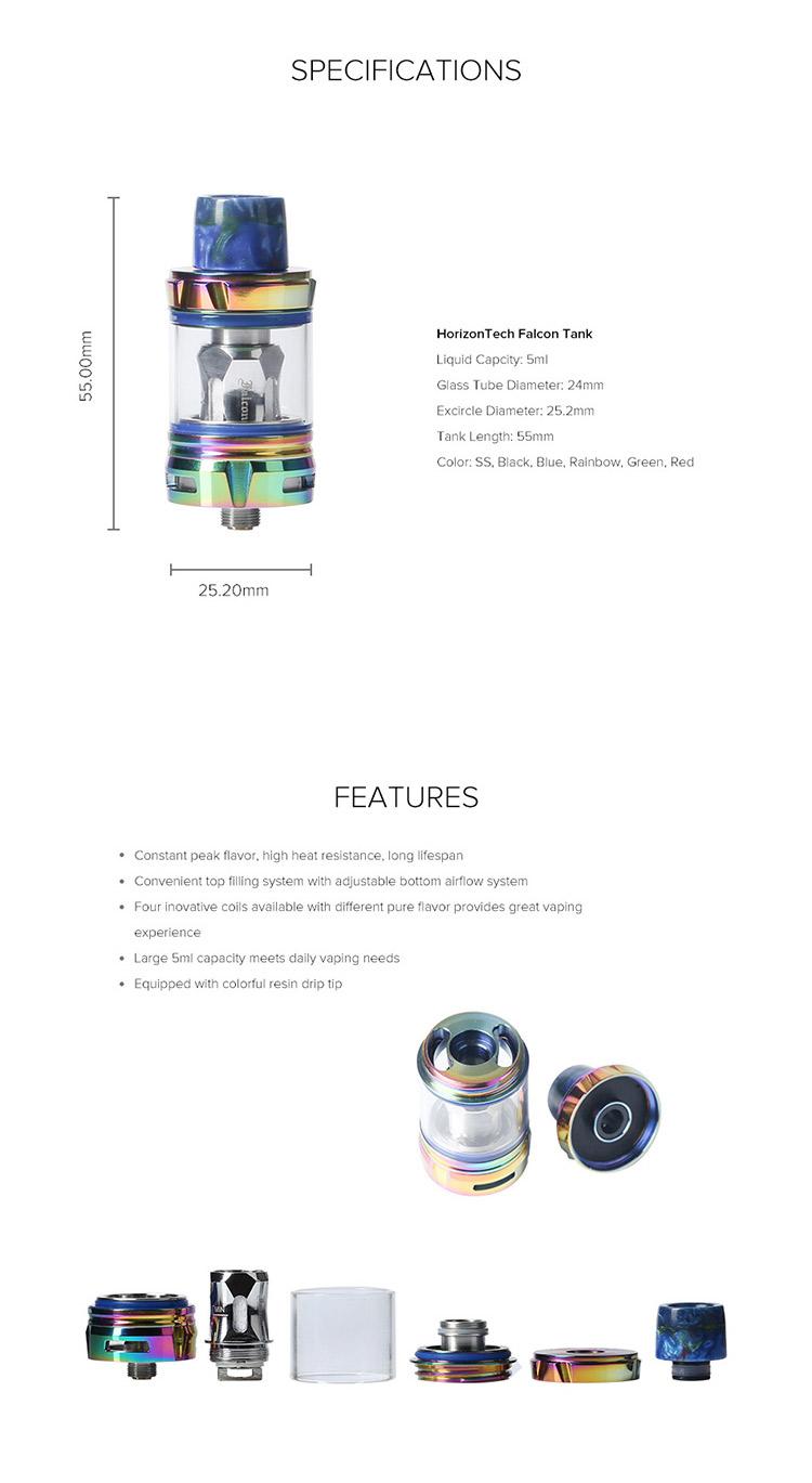 HorizonTech Falcon Sub-Ohm Tank Parameter