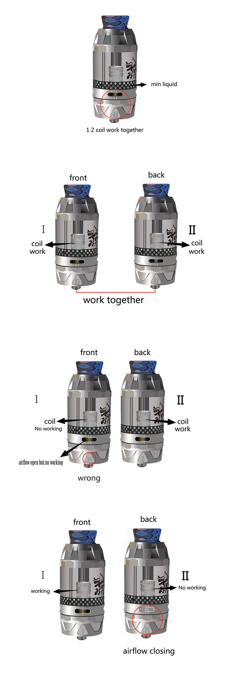 HENGLING Qtank Dual Flavor Subohm Tank Operation Guide