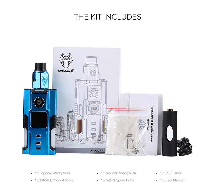 Snowwolf Squonk Vfeng Kit Packing List