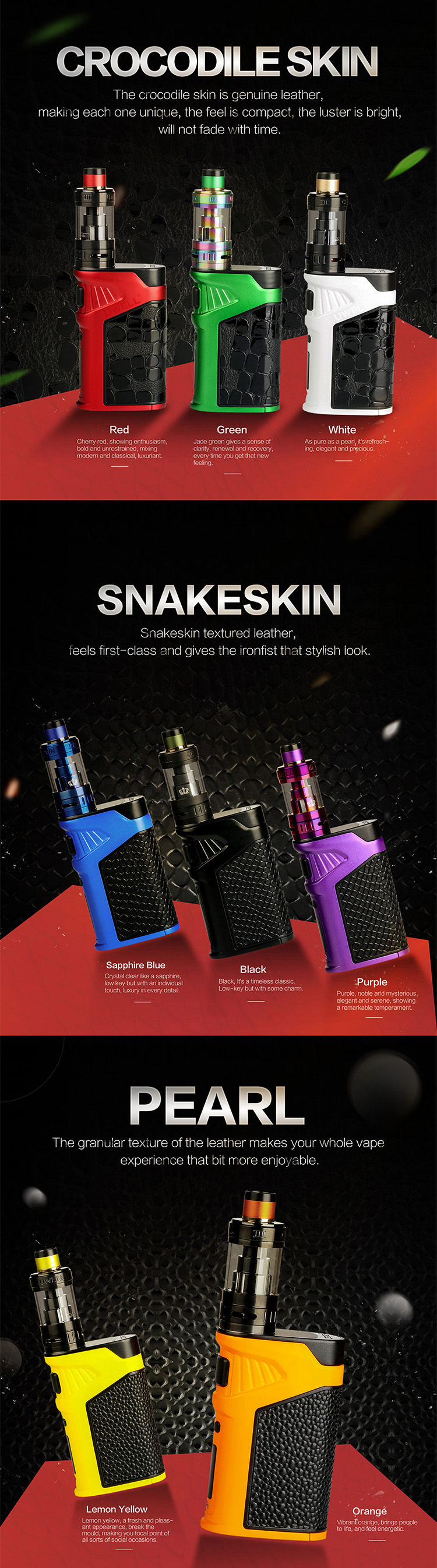 Uwell Ironfist 200W TC Box Kit with Crown 3 Material