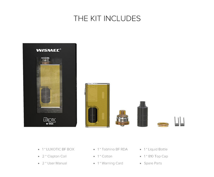 Wismec LUXOTIC BF BOX Packing List
