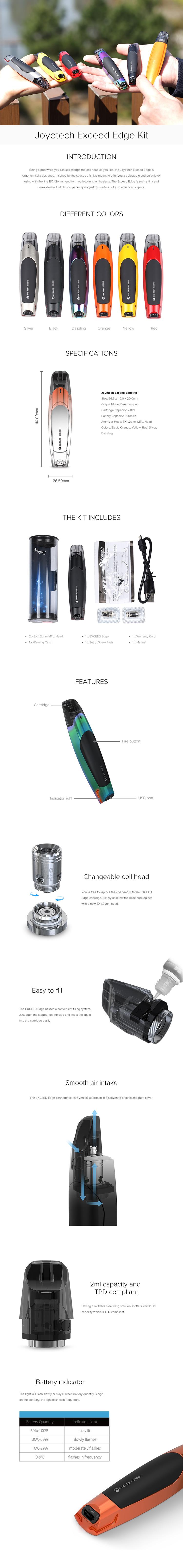 Joyetech EXCEED Edge Pod System Kit