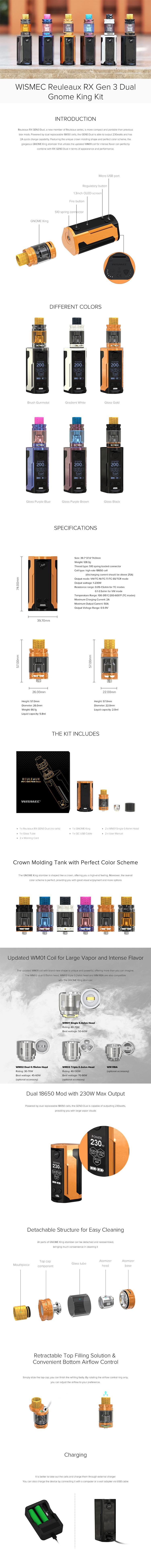 Wismec Reuleaux RXGEN3 Dual Kit