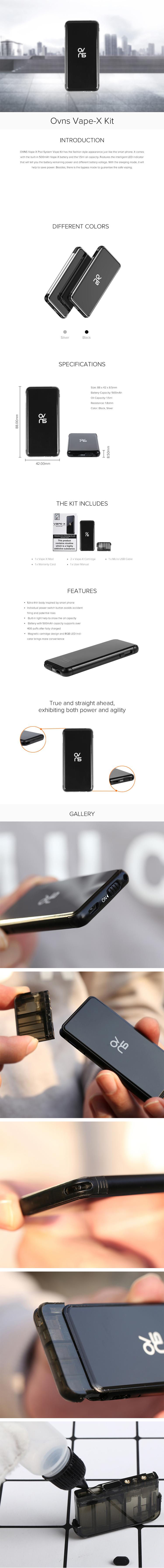 OVNS Vape-X Pod System Vape Kit
