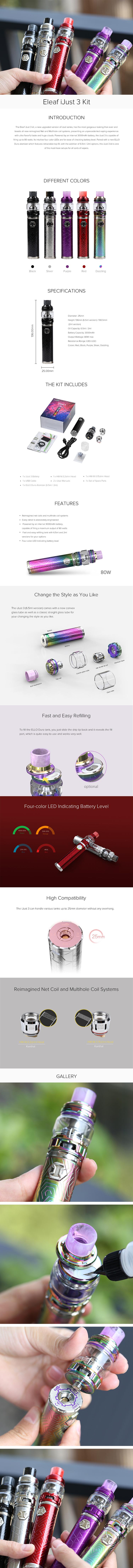 Eleaf iJust 3 Starter Kit