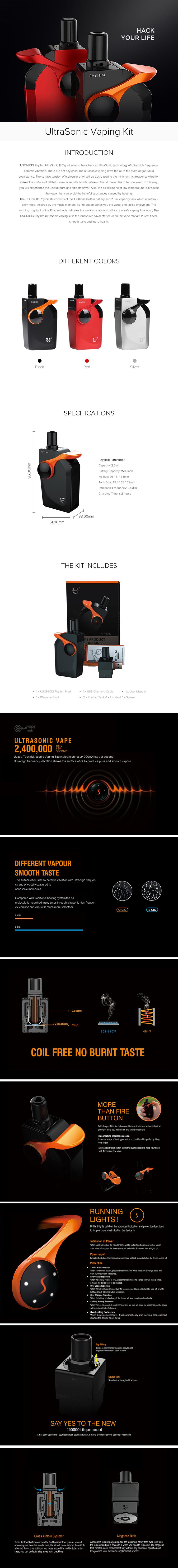USONICIG Rhythm UltraSonic Vaping Kit