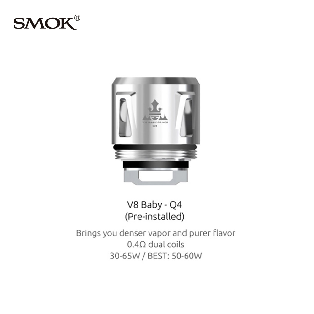 SMOK V8 Baby Replacement Core for TFV12 Baby Prince/TFV8 Baby (5pcs/pack)
