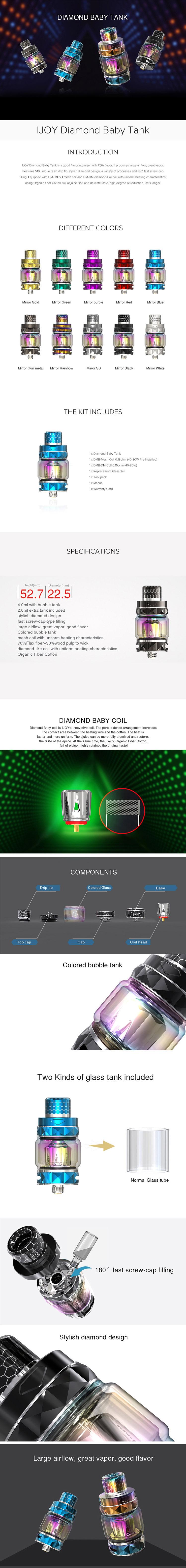 IJOY Diamond Baby Tank Atomizer