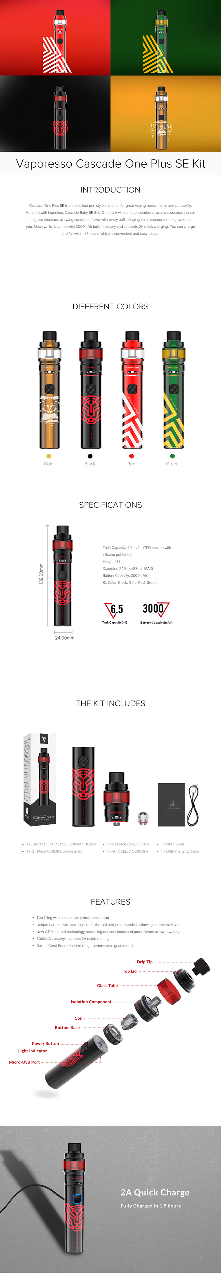 Vaporesso Cascade One Plus SE Kit