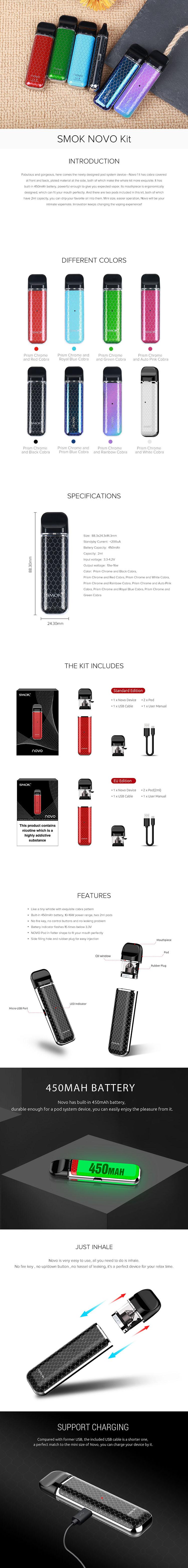 SMOK NOVO Pod System Kit 450mAh