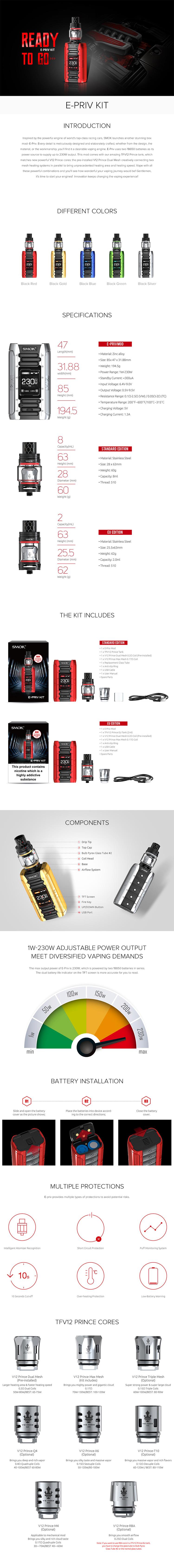 SMOK E-PRIV Kit