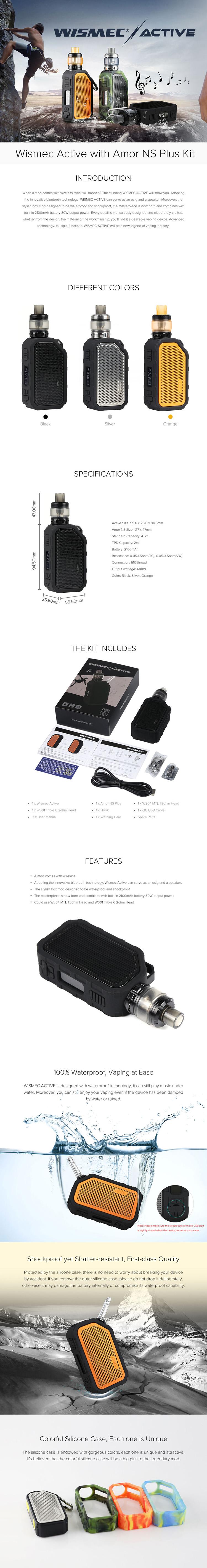 Wismec Active Bluetooth Music Kit 2100mAh