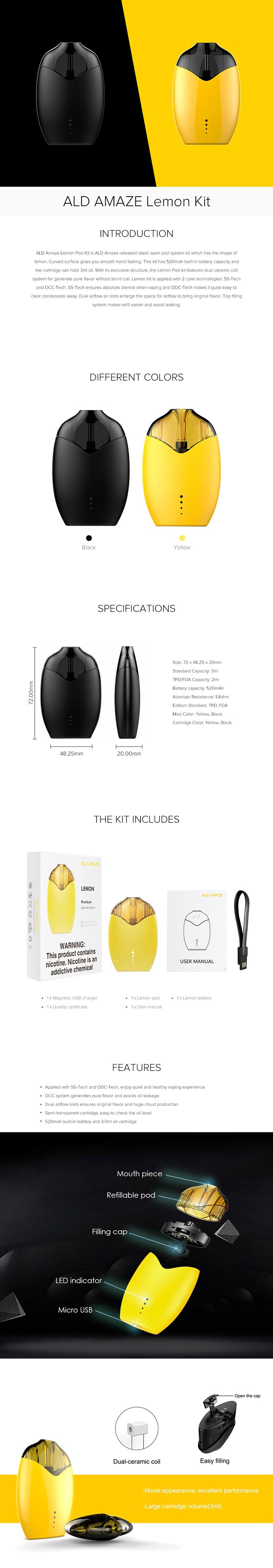 ALD Amaze Lemon Pod Kit