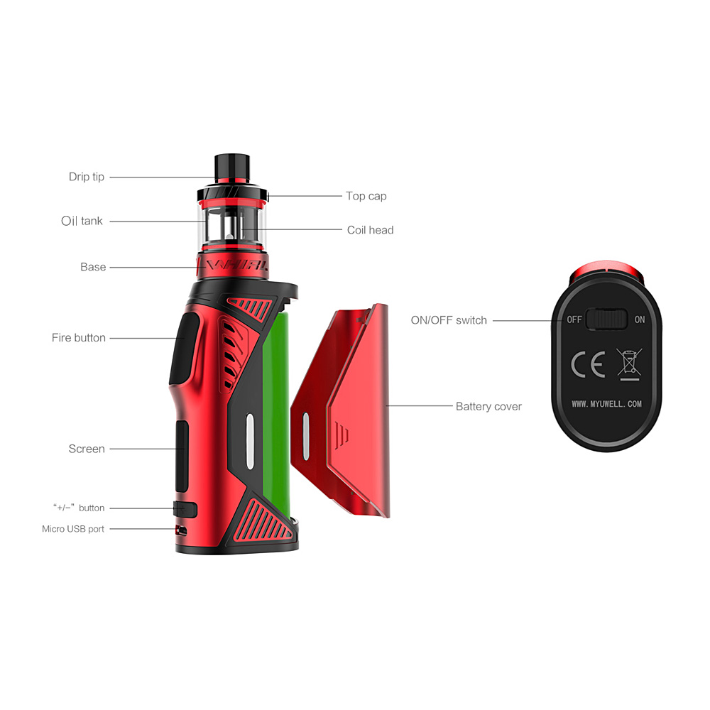 Uwell Hypercar Kit with Whirl Atomizer 3.5ml