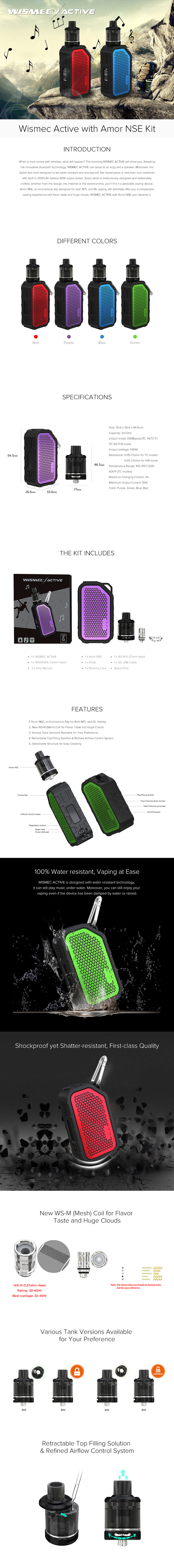 Wismec Active with Amor NSE Kit