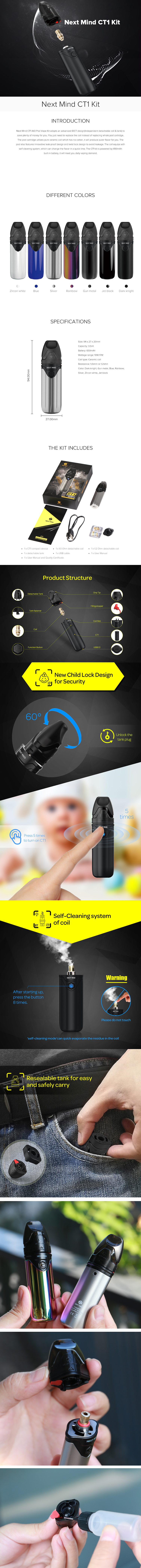 Next Mind CT1 Pod Vape Kit