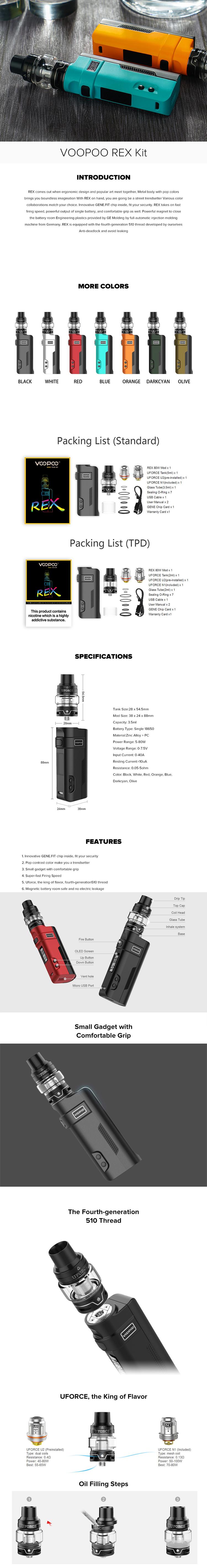 VOOPOO REX Kit