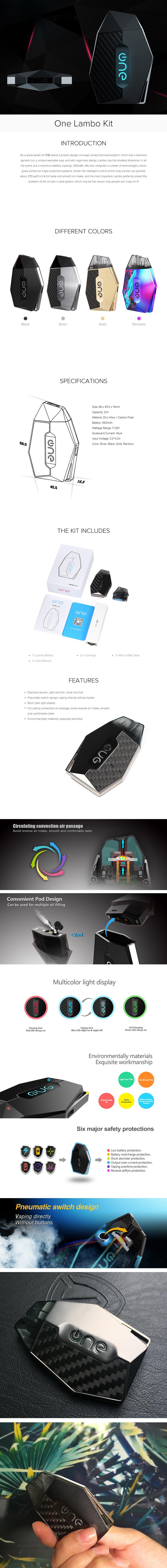 One Lambo Pod System Kit