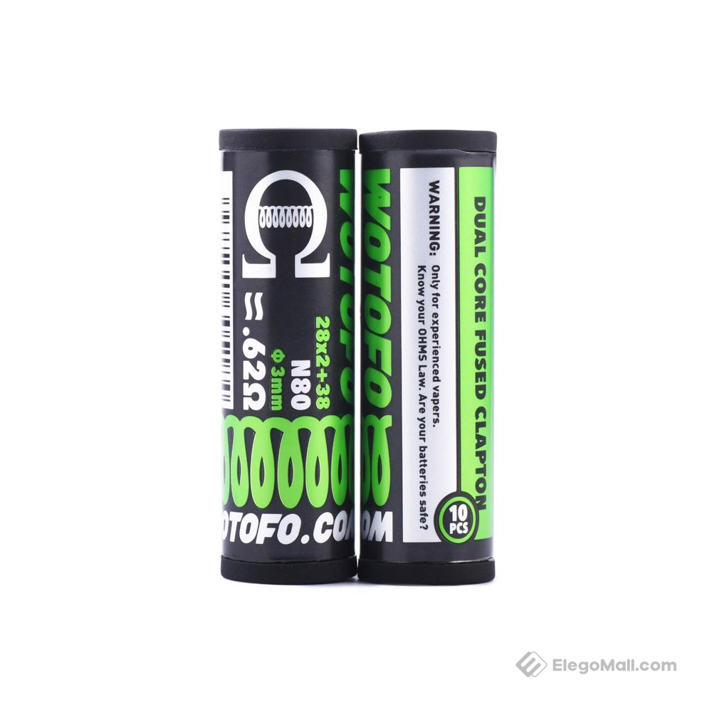 Wotofo Dual Core Fused Clapton Prebuild Wire 10pcs/pack