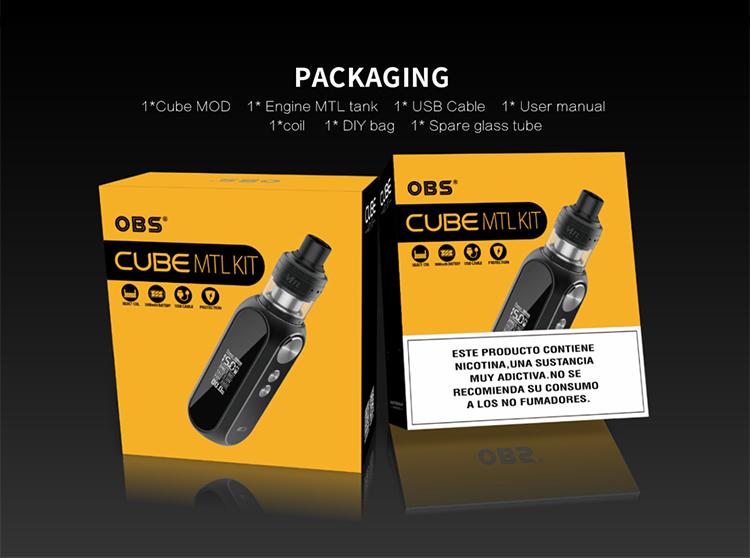 OBS Cube MTL 80W Kit