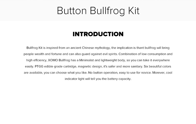 Button Bullfrog Pod Kit