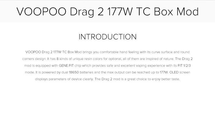 VOOPOO Drag 2 177W TC Box Mod