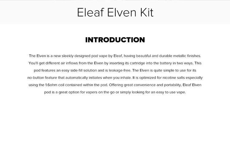 Eleaf Elven Pod Vape Kit