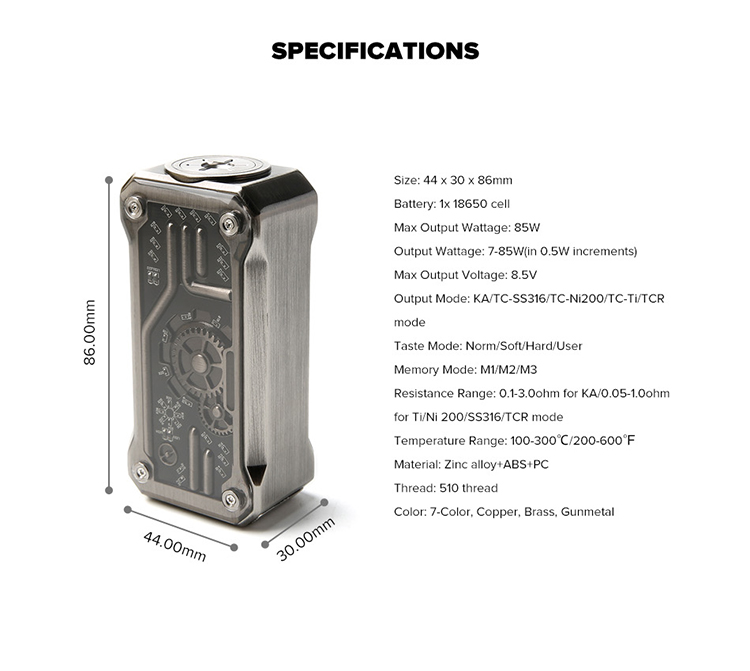 Tesla PUNK 85W   Box Mod