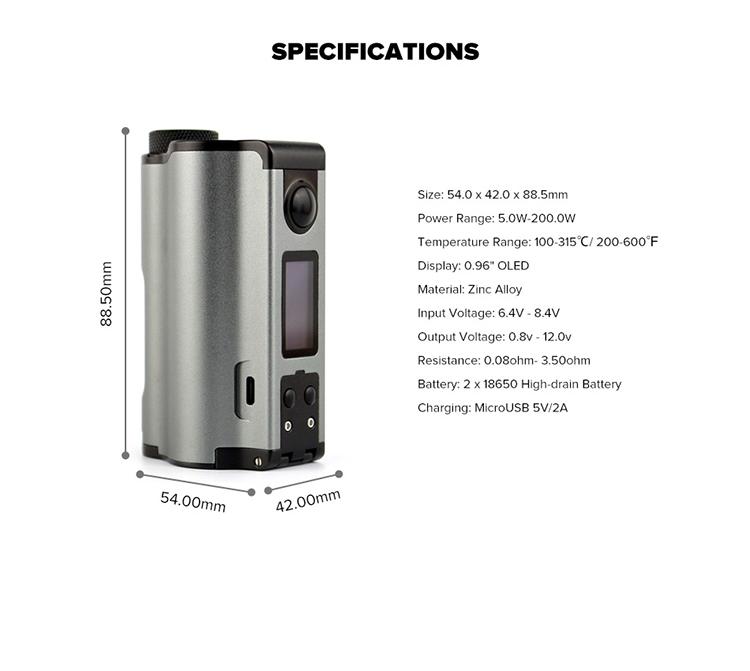 Dovpo Topside Dual 200W Squonk Box Mod